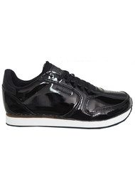 WODEN Ydun II Patent Trainers - Black