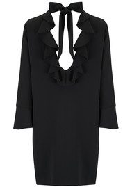 SPACE STYLE CONCEPT Back Ruffle Detail Dress - Black