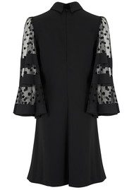 SPACE STYLE CONCEPT Spot Velvet Sleeve Dress - Black