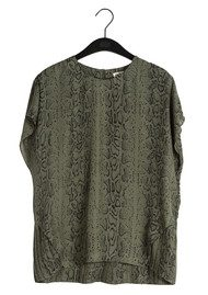 Twist and Tango Mandy Blouse - Green Snake