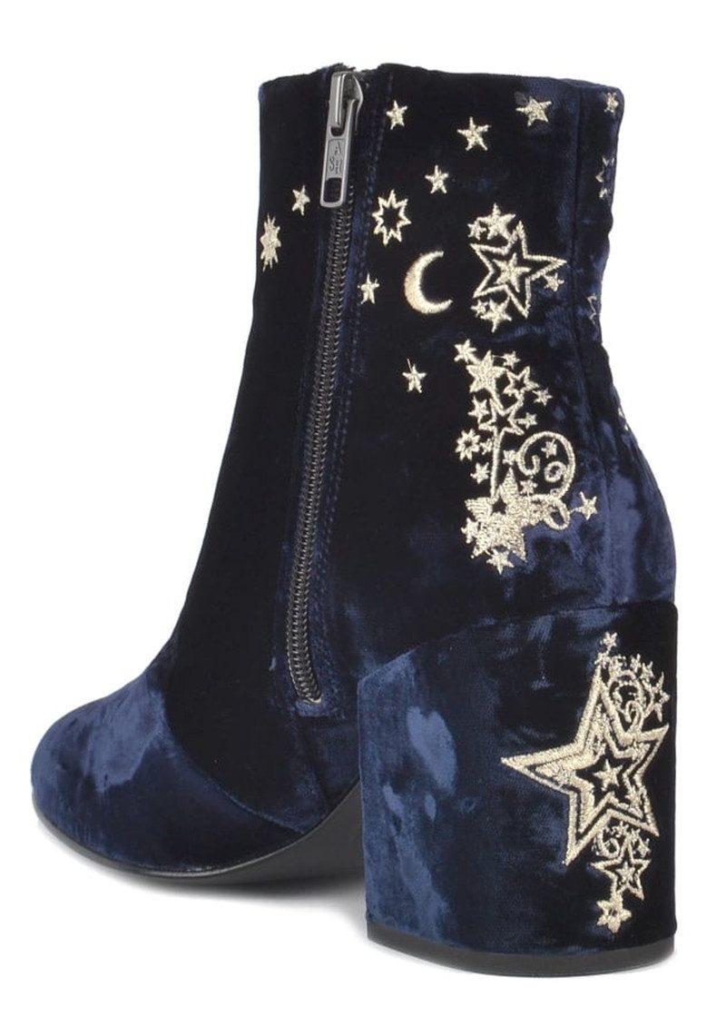 Ash Elixir Nadine Velvet Embroidered Boots Midnight