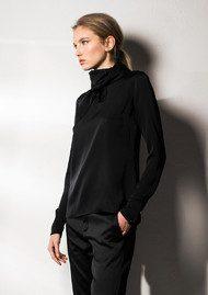 AHLVAR Aly Silk Blouse - Black