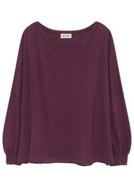 American Vintage Lorkford Long Sleeve Top - Prune