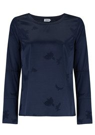 AHLVAR Kasumi Eagle Jacquard Top - Midnight Blue