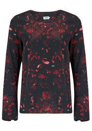 AHLVAR Kasumi Flower Top - Dark Red