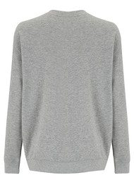 SOUTH PARADE Alexa Pom Pom Sweater - Heather Grey