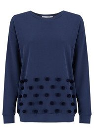 SOUTH PARADE Alexa Pom Pom Sweater - Navy