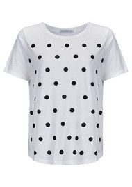 SOUTH PARADE Lola Polka Dot Tee - White