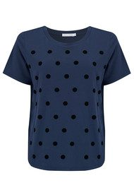 SOUTH PARADE Lola Polka Dot Tee - Navy