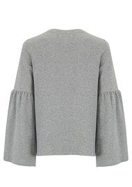 SOUTH PARADE Christy Top - Heather Grey