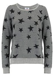 SUNDRY Stars Active Sweater - Heather Grey