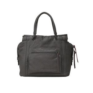 Virginia Leather Bag - Street Grey