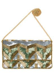 Becksondergaard Paradis Sequined Bag - Dusty Olive