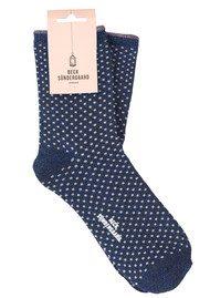 Becksondergaard Dina Small Dots Socks - Dark Navy