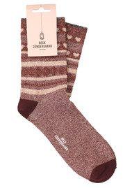 Becksondergaard Duca Hearts Socks - Winetasting