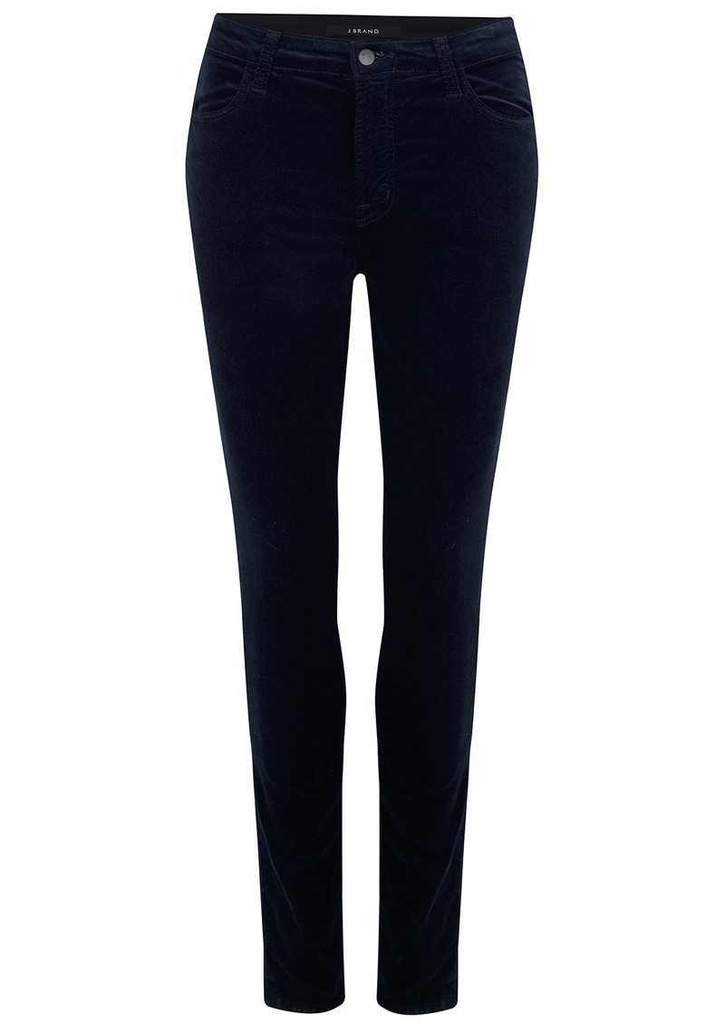 J Brand Maria High Rise Luxe Velveteen Jeans - Dark Iris main image