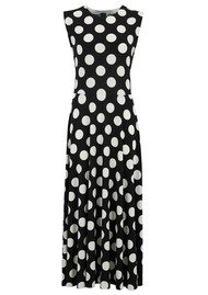 KAMALI KULTURE Sleeveless Flared Dress - Polka Dot