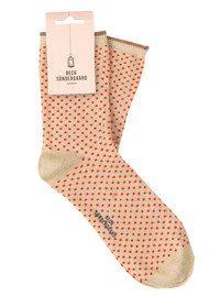 Becksondergaard Dina Small Dots Socks - Cherry Tomato