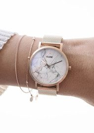 CLUSE La Petite Roche Marble Watch - Rose Gold
