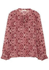 Ba&sh Rodeo Printed Blouse - Rouge