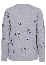 CUSTOMMADE Lotta Embroidered Sweatshirt - Grey Melange
