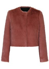 Day Birger et Mikkelsen  Day Mountain Faux Fur Jacket - Dusty Pink