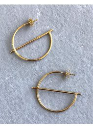 PERNILLE CORYDON Horizon Creoles Earrings - Silver