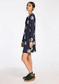 SAMSOE & SAMSOE Marcie AOP Dress - Florasion Bleu
