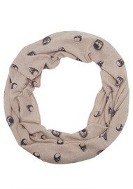 360 SWEATER Skull Cashmere Scarlett Snood - Rose & Charcoal
