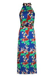 RIXO London Pearl Dress - Blue Cherry Blossom