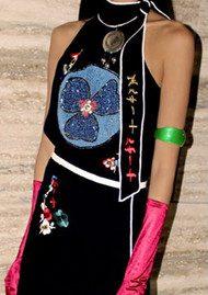 RIXO London Zoey Halterneck Top - Black Embroidery