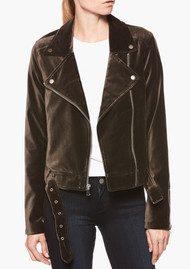 Paige Denim Shanna Velvet Biker Jacket - Vintage Deep Juniper