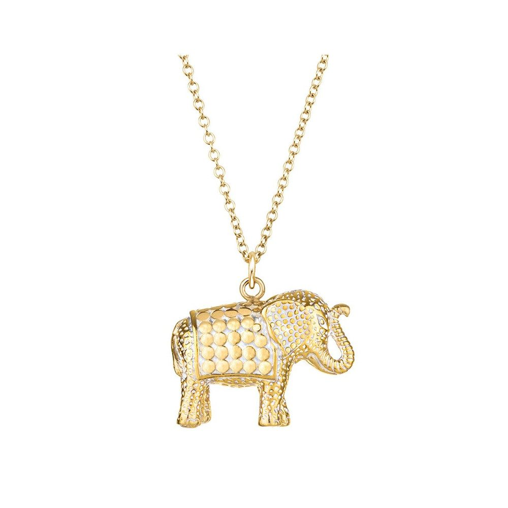 Elephant Charity Necklace - Gold