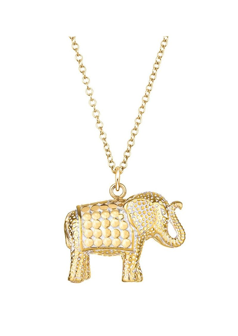ANNA BECK Elephant Charity Necklace - Gold main image