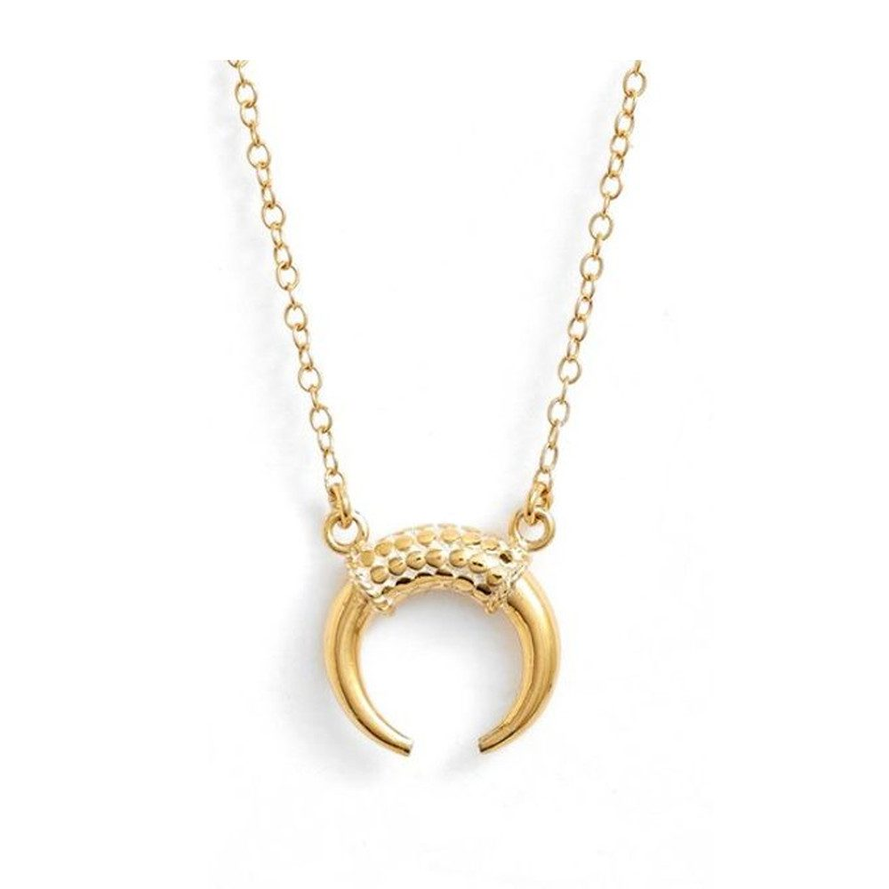 Horn Necklace - Gold