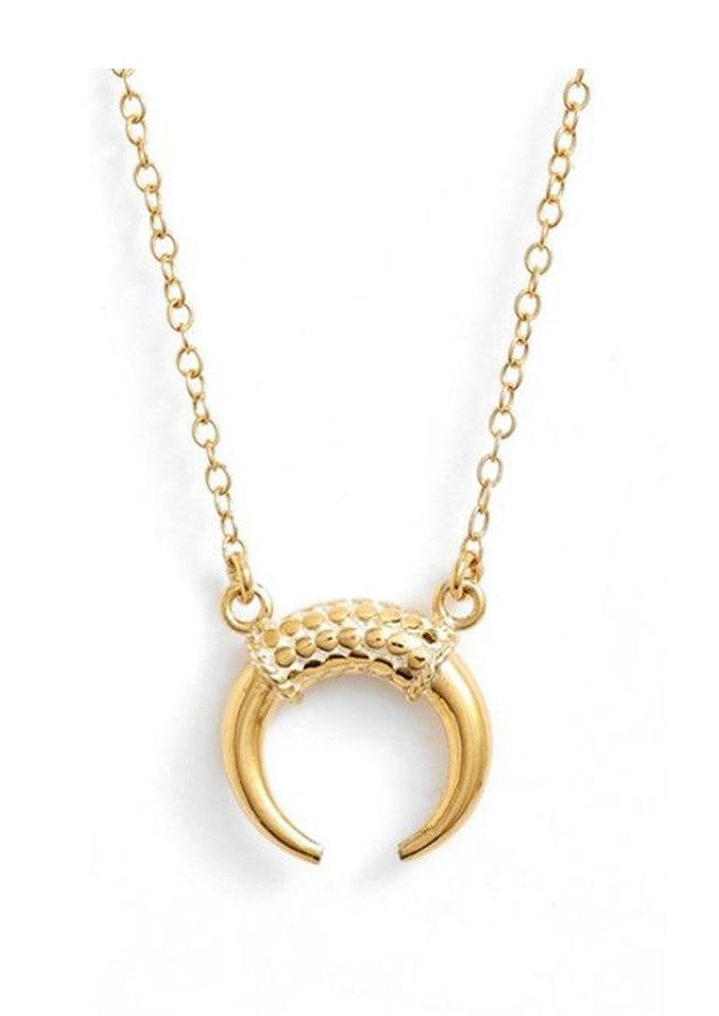 Horn Necklace - Gold main image