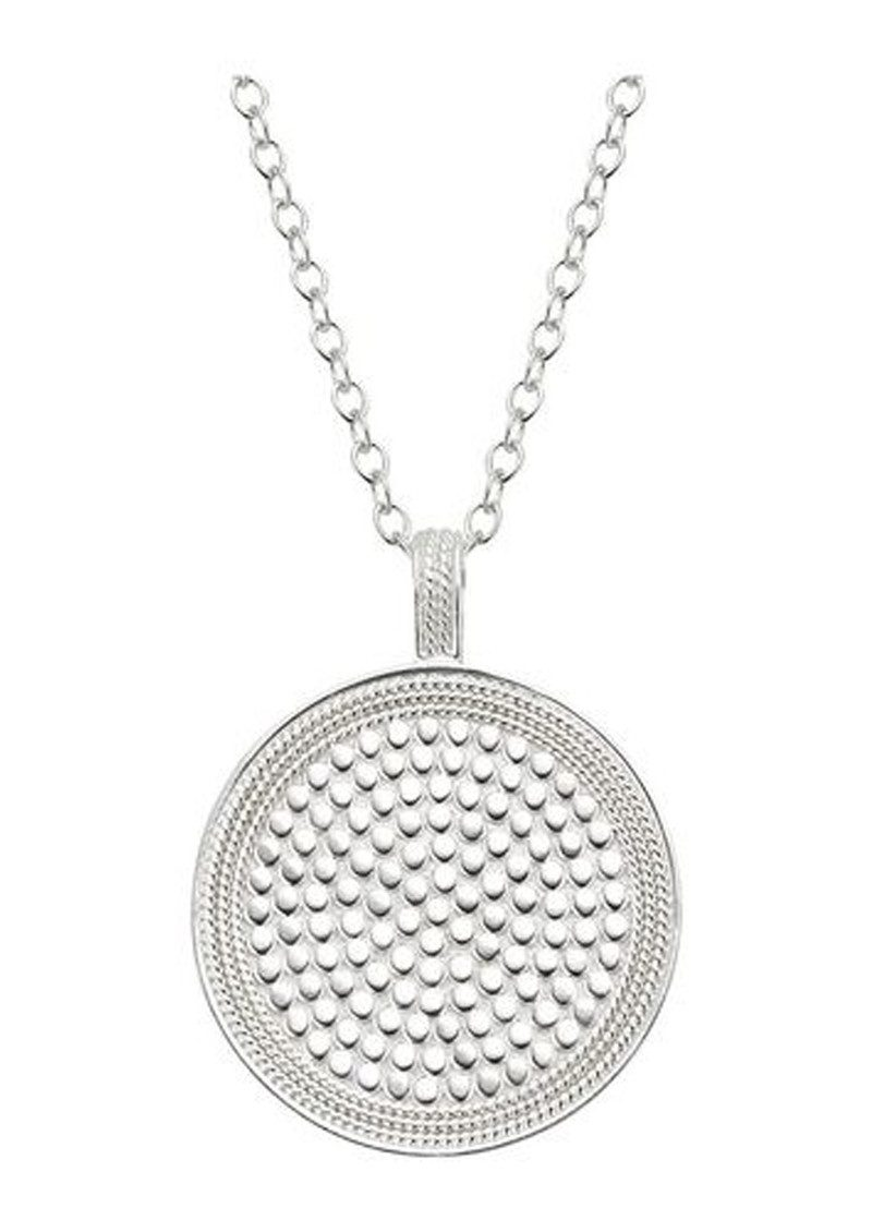 ANNA BECK Beaded Reversible Circle Pendant Necklace - Gold & Silver main image