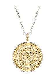ANNA BECK Beaded Reversible Circle Pendant Necklace - Gold & Silver