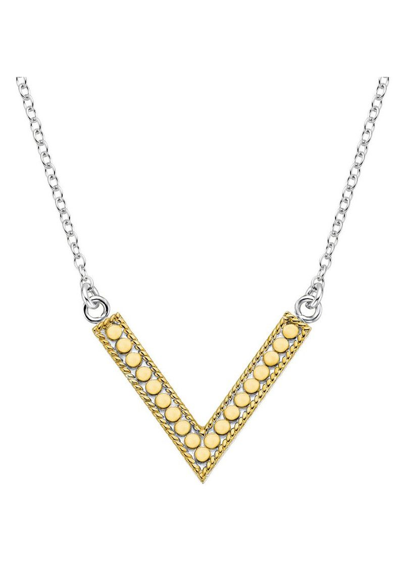 ANNA BECK V Reversible Necklace - Gold & Silver main image