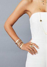 ANNA BECK Multi Disc Cuff Bracelet - Silver