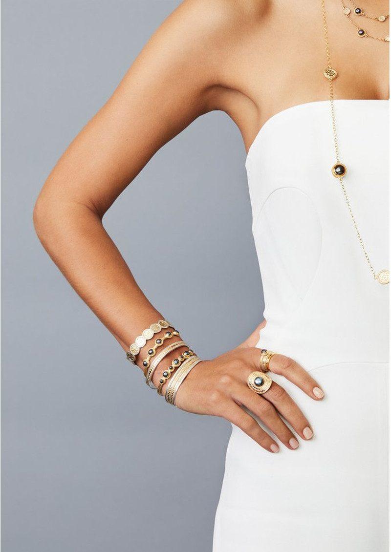 ANNA BECK Multi Disc Cuff Bracelet - Silver main image