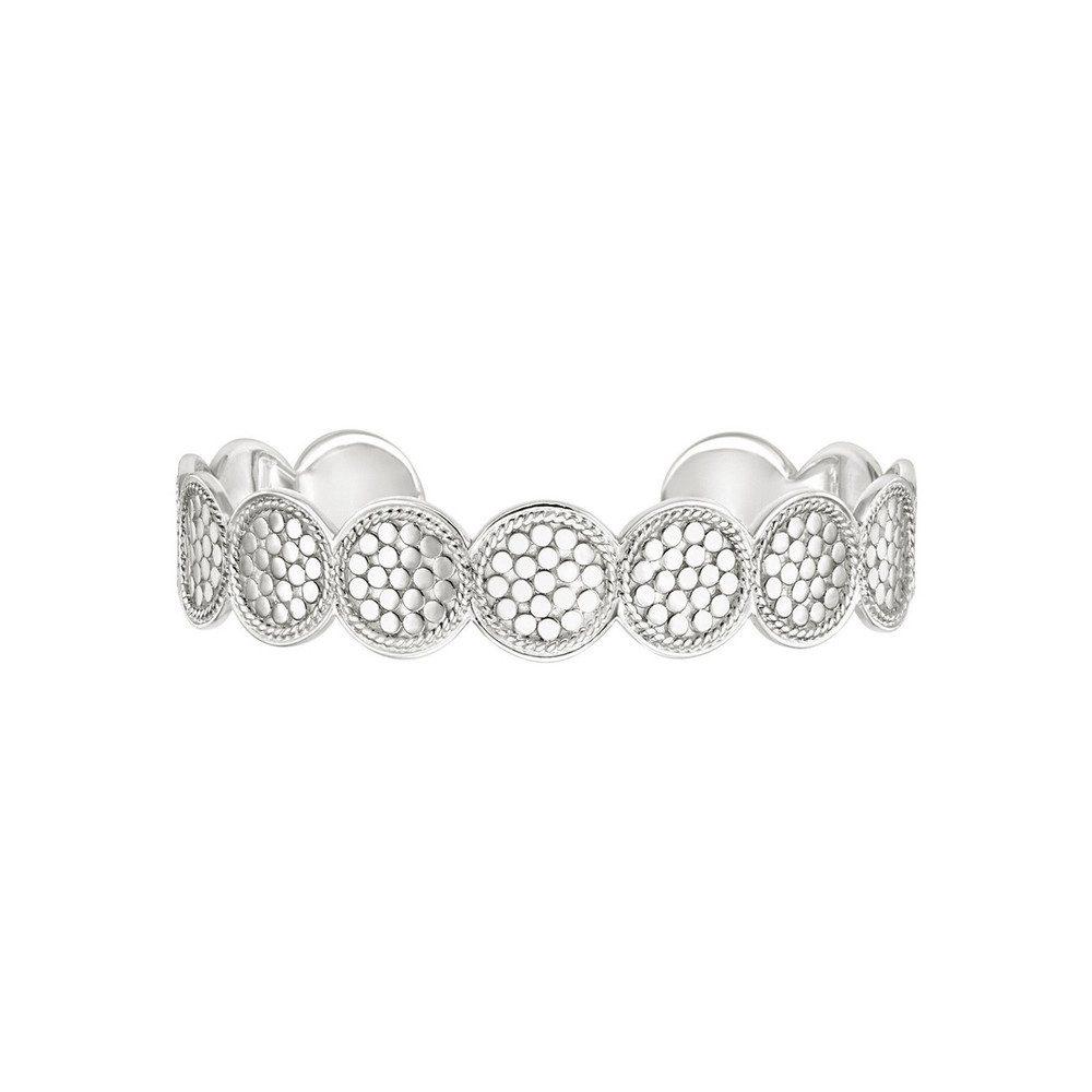 Multi Disc Cuff Bracelet - Silver
