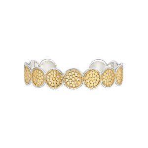 Multi Disc Cuff Bracelet - Gold