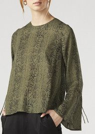 Twist and Tango Tracy Blouse - Green Snake