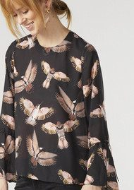 Twist and Tango Tracy Blouse - Black Birds