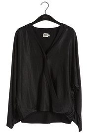 Twist and Tango Disa Wrap Blouse - Black