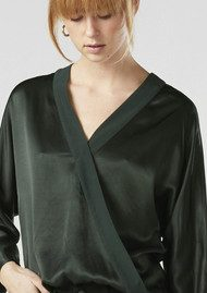 Twist and Tango Disa Wrap Blouse - Forest