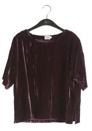 Twist and Tango Meg Velvet Tee - Deep Purple