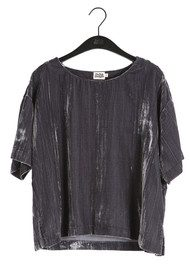 Twist and Tango Meg Velvet Tee - Deep Grey