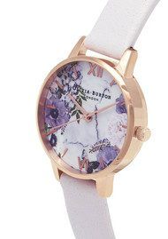 Olivia Burton Marble Floral Midi Dial Watch - Blush & Rose Gold